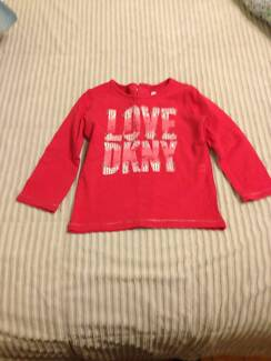DKNY girls red long sleeve top Russell Lea Canada Bay Area Preview
