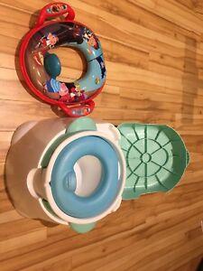Petit pot et siège d'appoint pour toilette