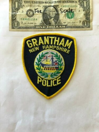 Grantham New Hampshire Police Patch un-sewn in mint shape
