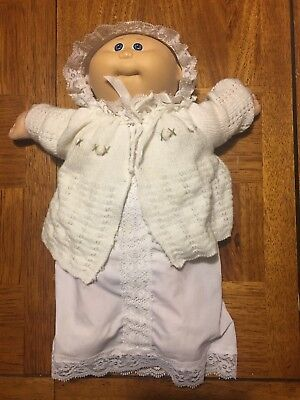 VTG 1984 Coleco Cabbage Patch Kids Doll Preemie Blue Eyes Baby Girl Full Clothed