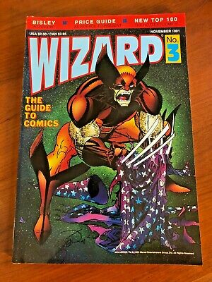 Guide to Comics WIZARD #3 November 1991 w poster *intact* WOLVERINE ghost rider