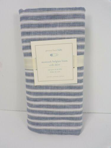 Pottery Barn Kids Montauk Stripe Crib Skirt Crib Skirt Blue #6366