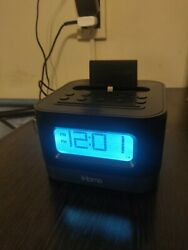 iHome HPL10 Stereo FM Clock Radio with Lightning Dock for iPhone/iPod