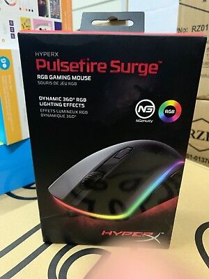 OB HyperX - Pulsefire Surge Wired Optical Gaming Mouse with RGB Lighting - Black