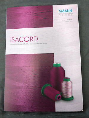 - Isacord polyester embroidery thread  chart  with the new 390 colors