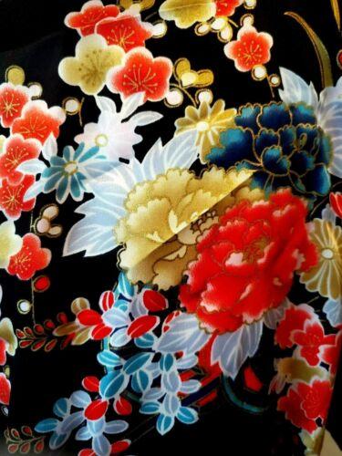 "NWOT Ichi Ban Women Robe 12 Kimono Silk 42"" Floral 12"