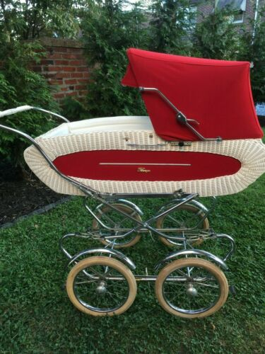 Perego Vintage Convertible Baby Stroller Red & White Used Good Condition Pickup!