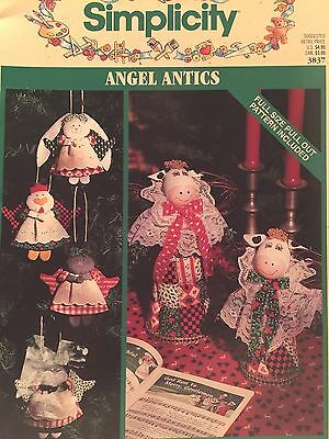 Simplicity 3837 SEWING PATTERN Christmas Angel Decoration CRAFT Book ()