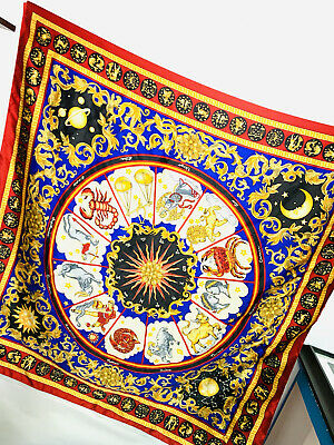 Vintage Scarf Styles -1920s to 1960s Vintage Avon 'Sign of the Stars' Scarf Astrological Zodiac Horoscope 35
