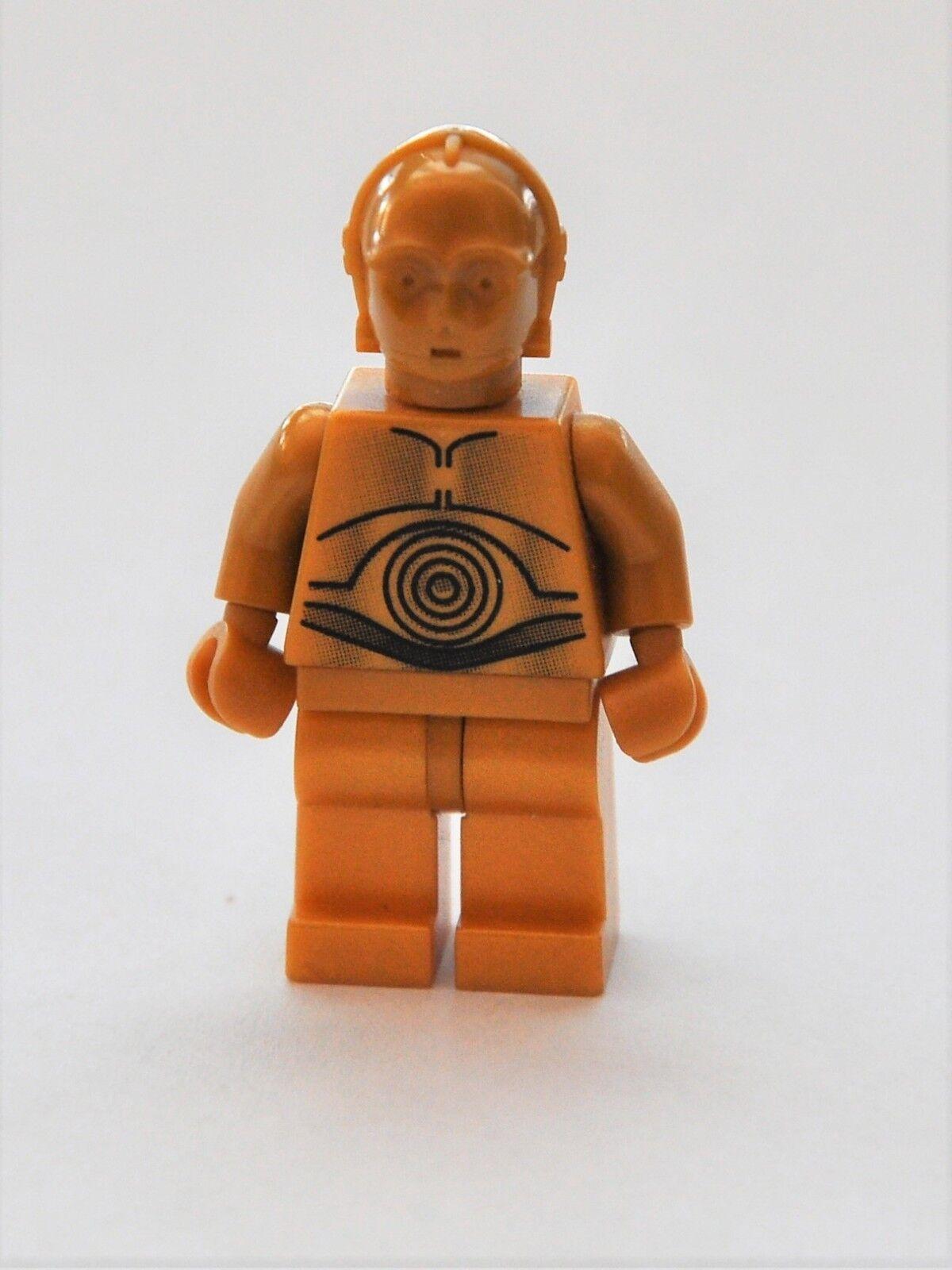 C3PO Droide Druide gelb 3PO dekorierte Beine Neu Lego Star Wars C-3PO Figur