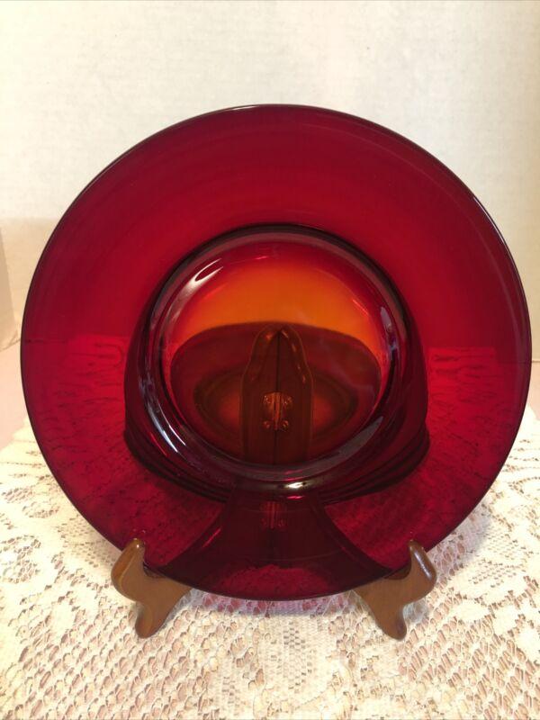 "Vintage Anchor Hocking-Royal Ruby Red-8""Salad Plates-Set of 4"
