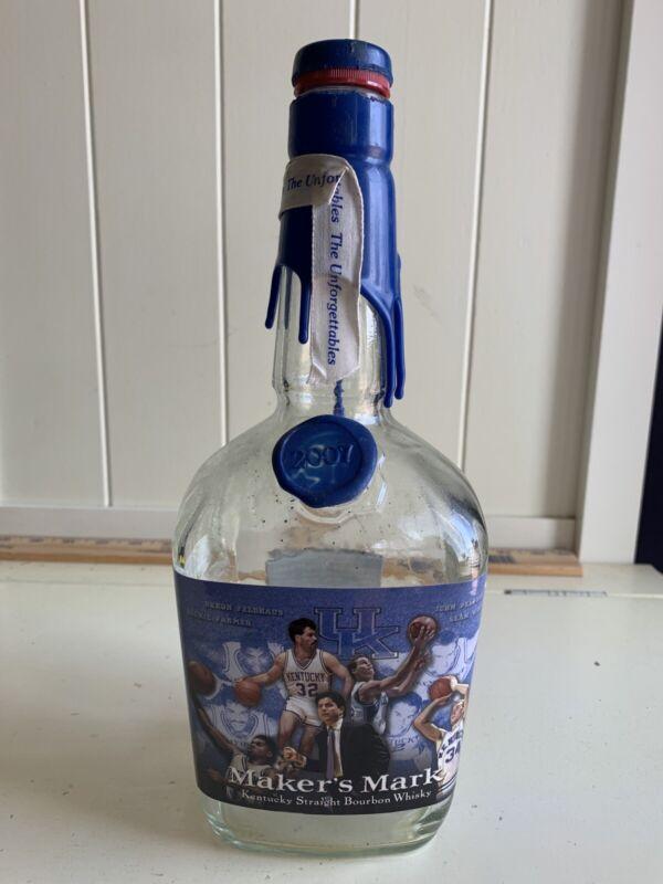 The Unforgettables Maker's Mark Bottle EMPTY Kentucky Wildcats