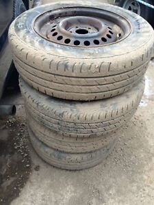4 tires on steel wheels for a 1995 to2005 sunfire or cavalier