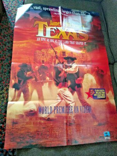 "1994 ""TEXAS"" MOVIE /VIDEO POSTER JAMES MICHENER  27""X40"""