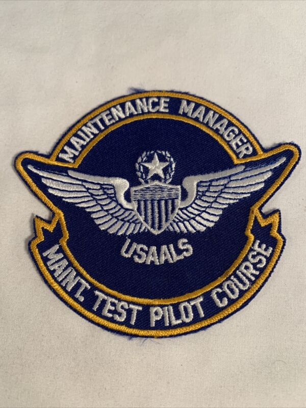 US Army USAALS Maintenance Manager Maintenance Test Pilot Course Patch