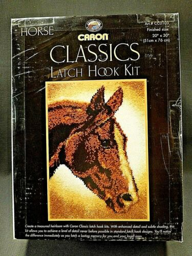 "Caron Classics Latch Hook Kit Horse Size 20"" x 30"" CC0103 UNUSED In Box"