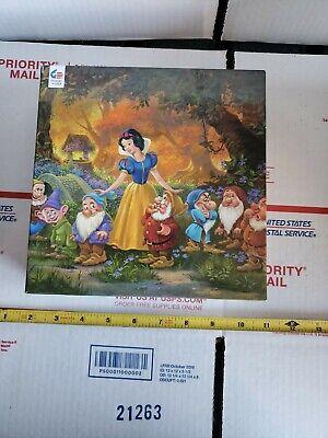 Ceaco Disney Fine Art Snow White 7 Dwarves Among Friends Puzzle 1000 Complete