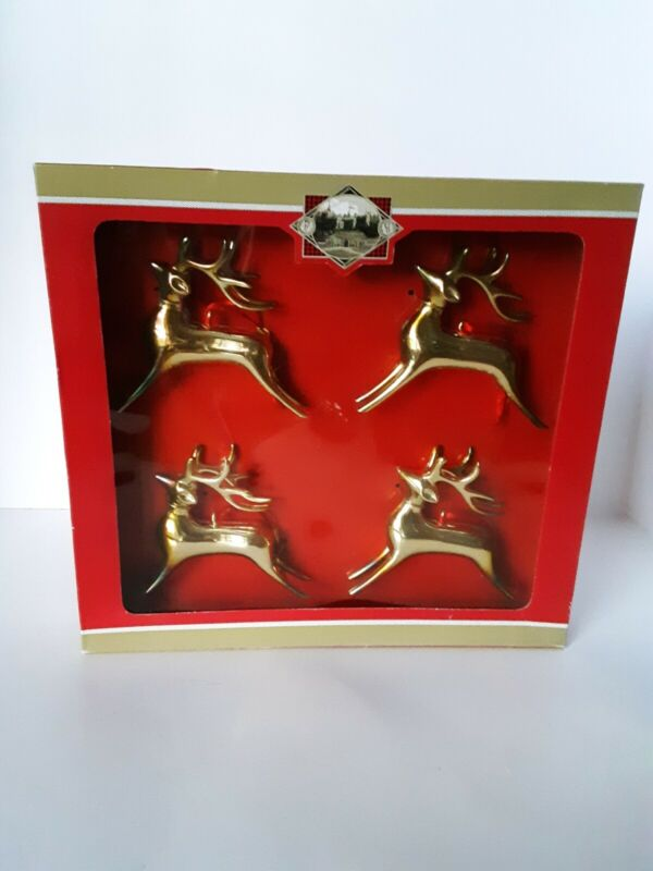 Silverplated Reindeer ornaments, Gordon Scott LTD, 2003