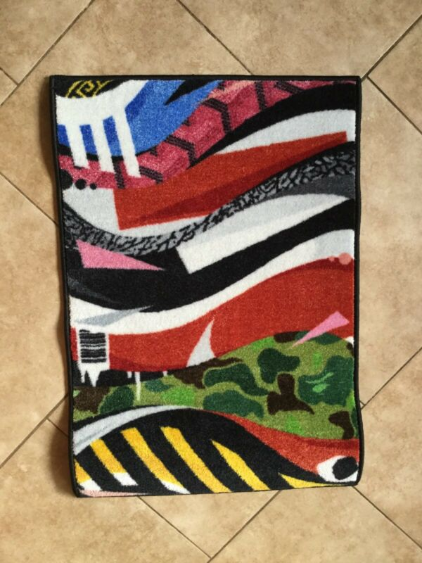 Rare Limited Ed. Spilled Sneaker Rug, What the ? Pattern, 2 X 3', sneakerhead