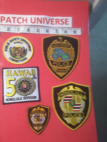 LOT OF 5 DIFFERENT HAWAII  SHOULDER PATCHES  B103