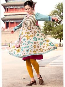 Gudrun Sjoden Beautiful  Cotton Dress L ( With Defects On Stitches)
