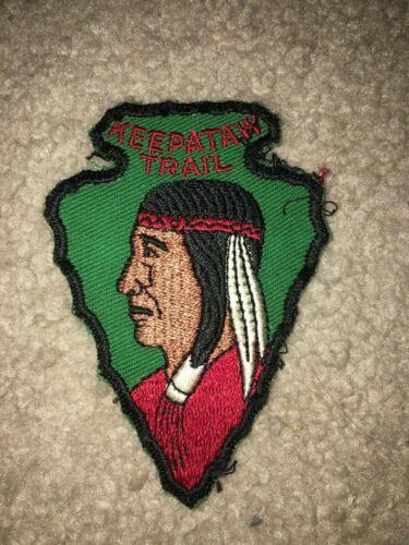 Boy Scout BSA Keepataw Lemont Illinois Arrowhead Shape Twill Hike Trail Patch