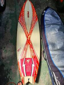 6'5 Fish surfboard and case