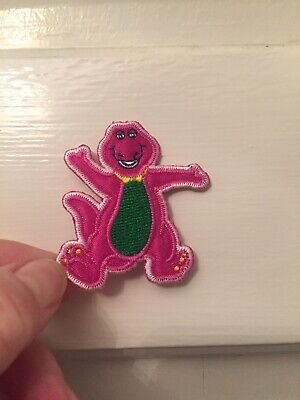 Barney The Purple Dinosour Embroidered Sew On Patch