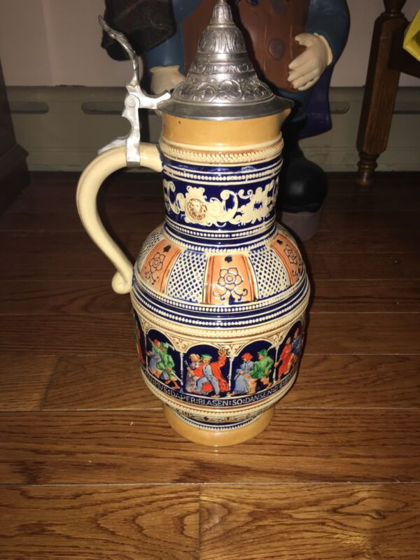 Large Germany Beer Stein Pitcher Metlach