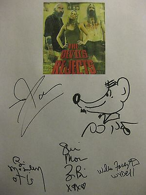The Devil's Rejects Signed Film Script X5 Rob Zombie Sid Haig Bill Moseley repnt