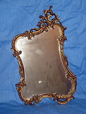 alter Spiegel, barock, vergoldet, Rahmen aus Holz, geschnitzt