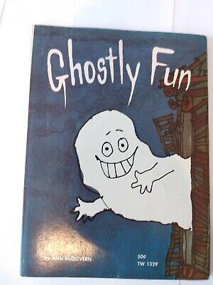 GHOSTLY FUN Ann McGovern Halloween Joke/Puzzle Book (1970, SBS TW 1329)](Halloween Joke Book)