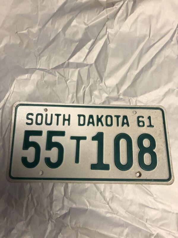 South Dakota 1961 Truck License Plate