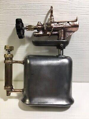 VINTAGE Bi-Metal Flat Tank Blowtorch