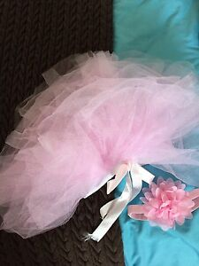Newborn / infant tutu and flower hairband set