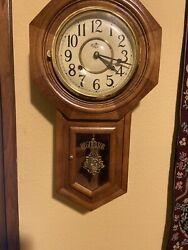 Vintage DEA Regulator Pendulum Wall Clock + KEY  RARE