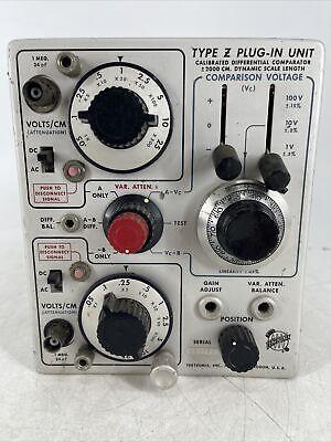 Tektronix Type Z Plug In Unit Calibrated Differential Comparator Partsrepair