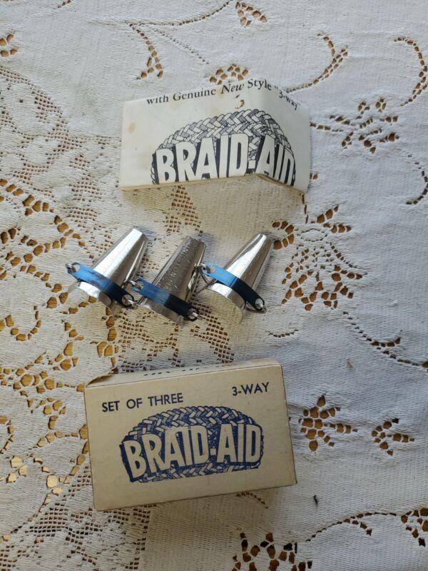 Vintage Braid Aid Rug Braiding Tool with Instructions