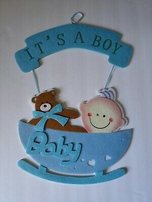 Hanging Decorations For Baby Shower (Beautiful Baby Shower hanging decoration for Boy! Decoracion de)
