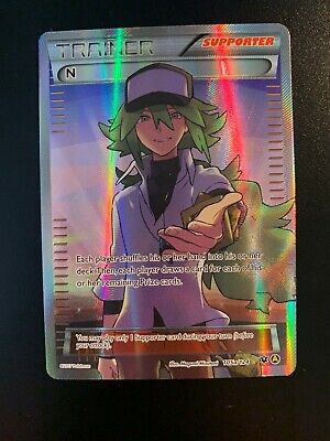 Pokemon Card N 105a/124 Fates Collide ALT ART HOLO RARE