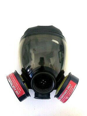 Msa Advantage 1000 Riot Control Full Face Respirator Gas Mask Size Medium Md