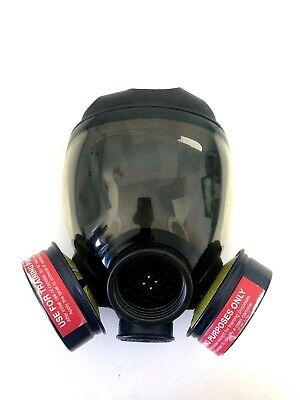 Msa Advantage 1000 Riot Control Full Face Respirator Gas Mask Size Medium Md