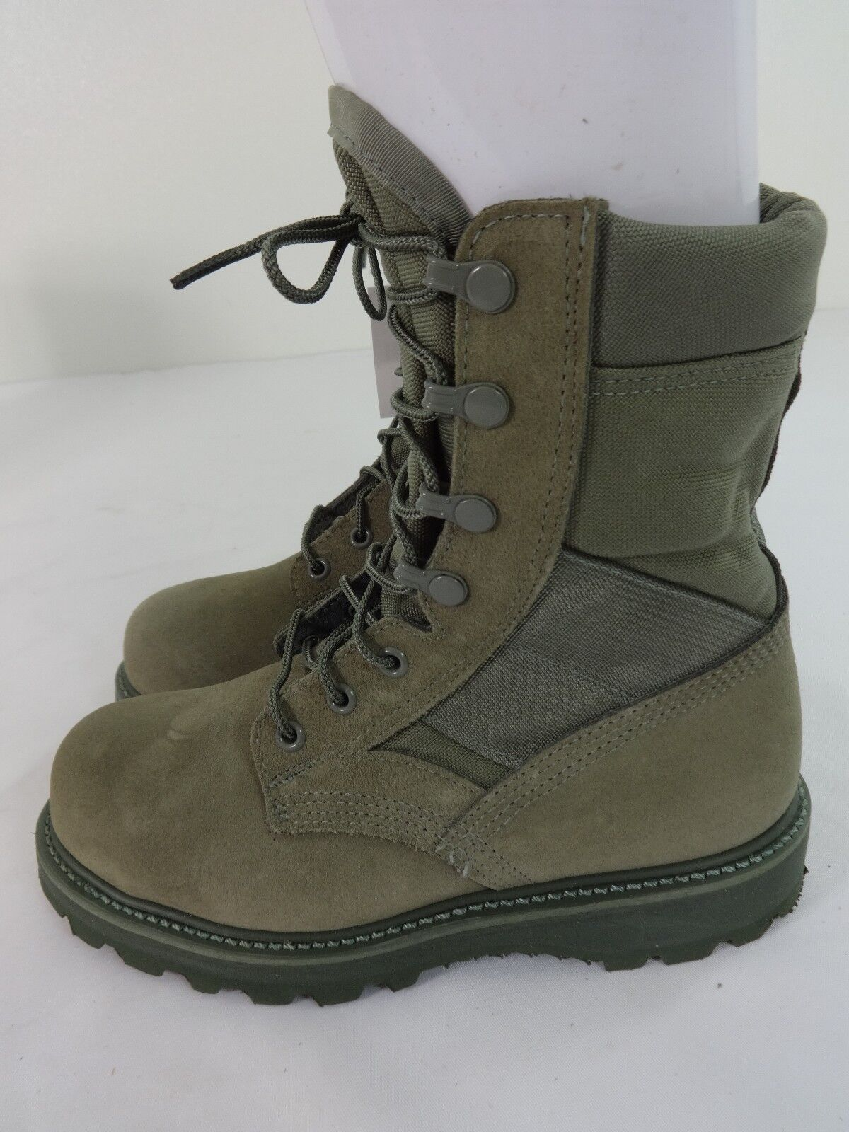 THOROGOOD USAF SAGE GREEN HOT WEATHER STEEL TOE COMBAT BOOTS VIBRAM SOLES  3.5 N b856a4aa7354