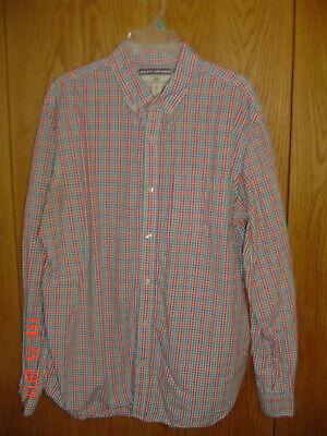 Old Navy Gingham Shirt (Men's OLD NAVY Gingham Plaid Long Sleeve Shirt Button Down Collar XL Tall FC528)