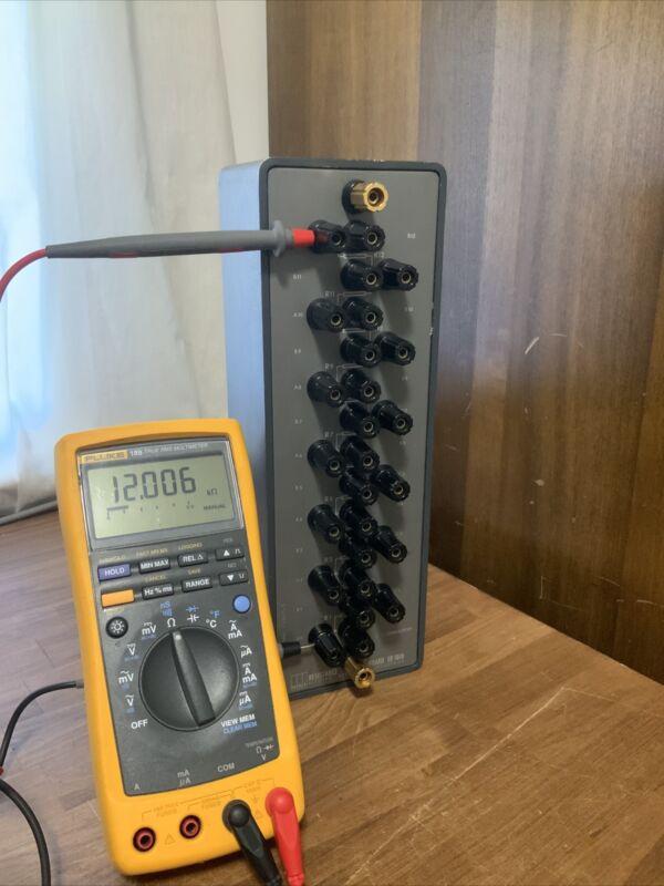 Electro Scientific ESI Resistance Standard SR1010 1 Kohm  Step To 12 Kohm Tested