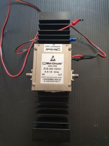 Mini-Circuits ZVE-3W-183X+ High Power Amplifier 3W 5.9 to 18GHz