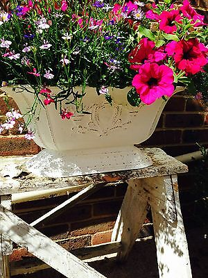 French antique victorian METAL planter cast iron this is  3rd one F/B pointing