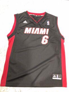 Miami heat basketball Lebron James jersey size L