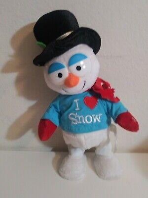 Gemmy Christmas Frosty the Snowman I Love Snow Animated Sings Dances RARE