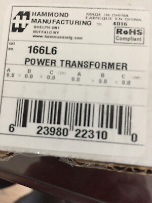 Hammond Manufacturing 166l6 Filament Transformer 115v 6.3v C.t.